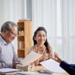 Estate planning attorney helping with legal documents